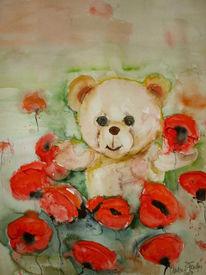 Teddy, Malerei,