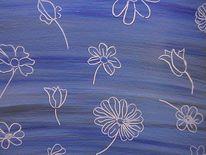 Welt, Malerei, Blumen, Blau