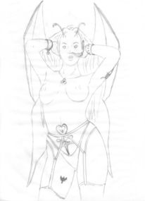 Zeichnung, Fee, Erotik, Leben
