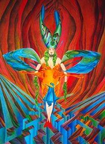 Fantasie, Malerei, Buntstiftzeichnung, Suche