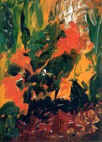 Herbst, Malerei, Abstrakt, Laub