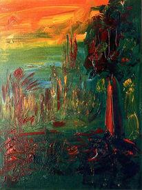 Malerei, Sonne, Herbst, Natur
