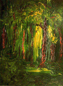 Wald, Baum, Moos, Malerei