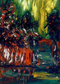Schilf, Malerei, Pflanzen, Baum