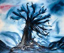 Malerei, Baum, Kälte, Pflanzen