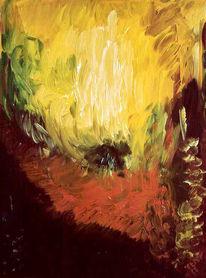 Malerei, Holz, Feuer, Abstrakt