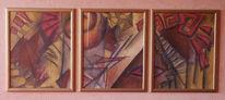 Abstrakt, Malerei, Pyramide