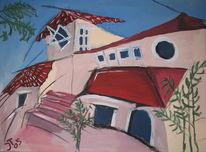 Mittelmeer, Villa, Süden, Malerei
