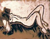 Expressionismus, Akt, Loft, Malerei
