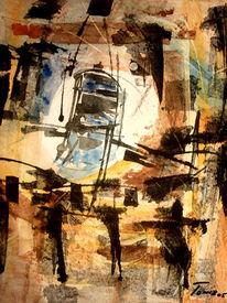 Abstrakt, Malerei, Reiter