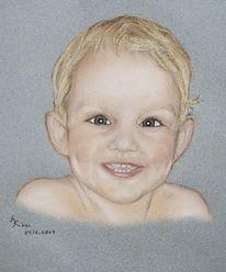 Zeichnung, Portrait, Zeichnungen, Strahlen
