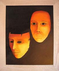 Gesicht, Malerei, Surreal, Maske