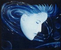 Planet, Blau, Surreal, Mond