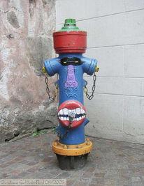 Malen, Fotografie, Gesicht, Hydrant
