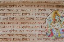 Buddhismus, Malerei, Grün, Schrift