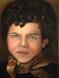 Junge, Ölmalerei, Irak, Figural