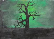 Grün, Romantik, Baum, Malerei