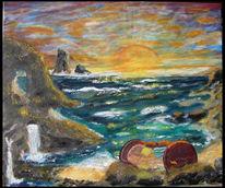 Meer, Sonnenaufgang, Wind, Zeit