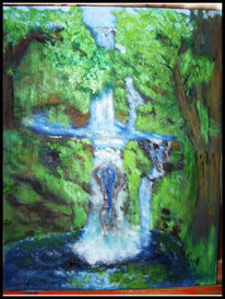 Fantasie, Wasserfall, Natur, Entspannung
