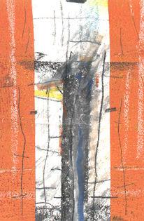 Abstrakt, Malerei, Mischtechnik, Postkarten