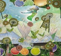 Landschaft, Ostereier, Besinnlichkeit, Farben