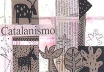Grafik, Abstrakt, Mischtechnik, Postkarten