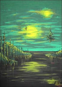 Malerei, Abtönfarbe, Surreal