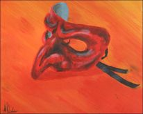 Malerei, Stillleben, Maske