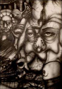 Surreal, Pinsel, Malerei, Luft