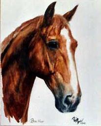 Figural, Malerei, Pferde, Wallach