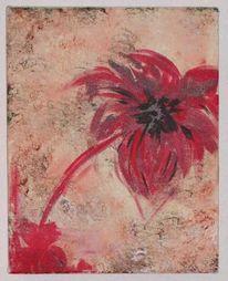 Vernissage, Rot, Antik, Blumen