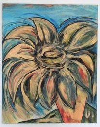 Augen, Blau, Vernissage, Sonnenblumen