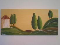 Abstrakt, Malerei, Toskana