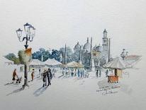 Altstadt, Padova, Markt, Plein