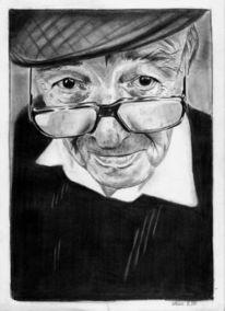 Zeichnung, Alter mann, Portrait, Zeichnungen