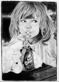 Zeichnung, Zoe, Portrait, Zeichnungen