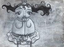 Prinzessin, Wiesbaden, Illustration, Huschel