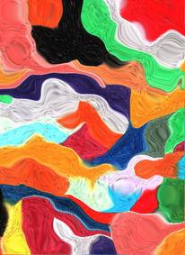 Farben, Bewegung, Digital, Falten