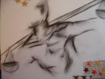 Zeichnung, Zeichnungen, Waage