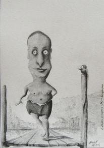 Zeichnungen, Bleistifte, Sommer, Vogel