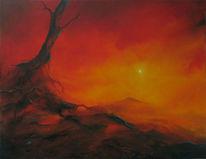 Baum, Alter, Malerei, Herbstbilder