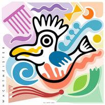Brauchen, Grafik, Farben, Vogel