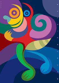 Grafik, Profil, Farben, Farbdruck
