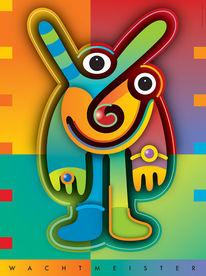 Farben, Illustration, Formen, Figur
