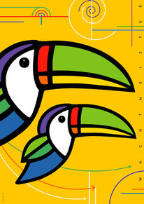 Gelb, Bewegung, Vogel, Grafik