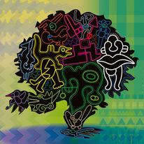 Lebensbaum, Kreaturen, Gewimmel, Bewegung