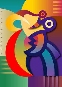 Farben, Figur, Grafik, Fantasie