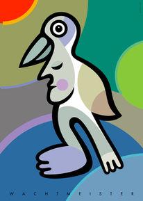 Vogel, Figur, Formen, Grafik