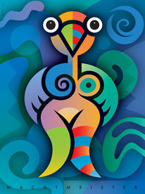 Farbdruck, Formen, Figur, Symbol