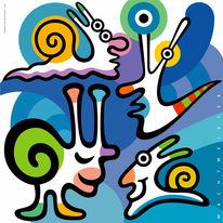 Farben, Grafik, Vermenschlichen, Figur